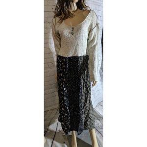 Vintage Chantel & Vicki mixed material dress
